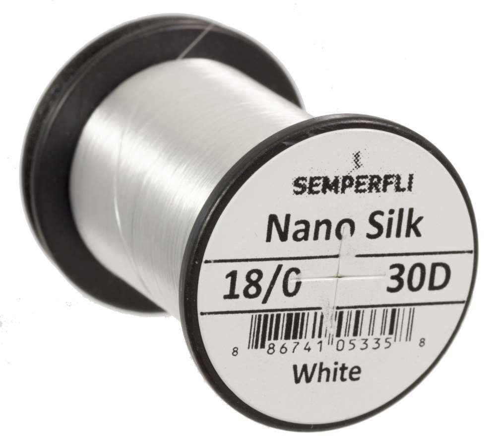 Semperfli Nano Silk Ultra 30D 18/0 White
