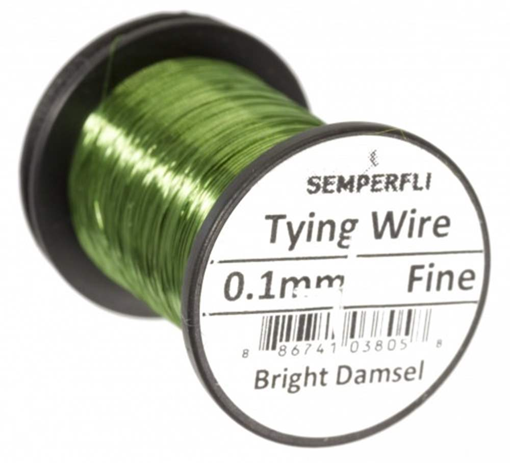 Ultrafine 0.1mm Wire Thin Bright Damsel Green