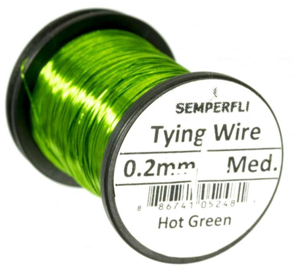 Lure/Streamer 0.2mm Wire Hot Green