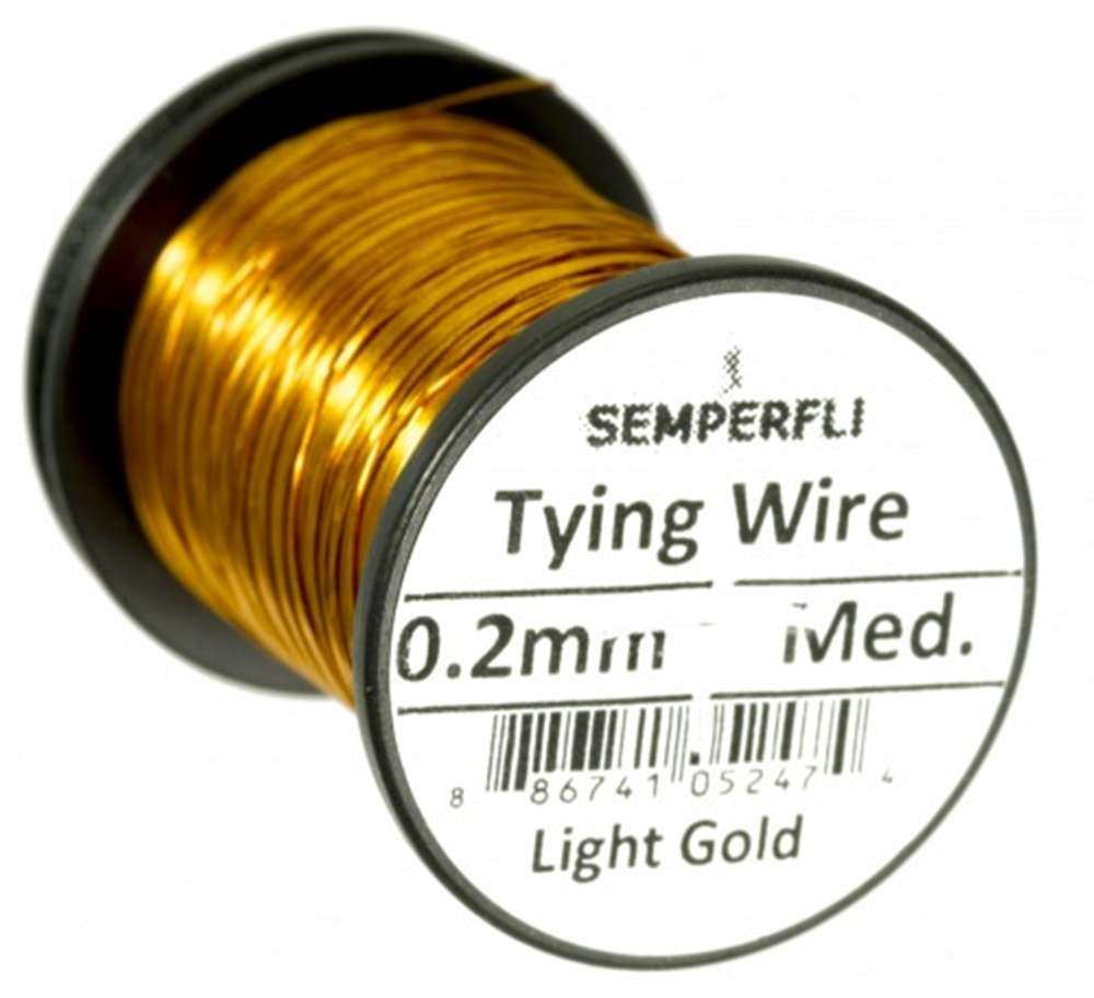 Lure/Streamer 0.2mm Wire Light Gold