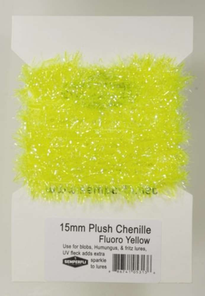 15mm Plush Transluscent Chenille Fl. Yellow Sunburst
