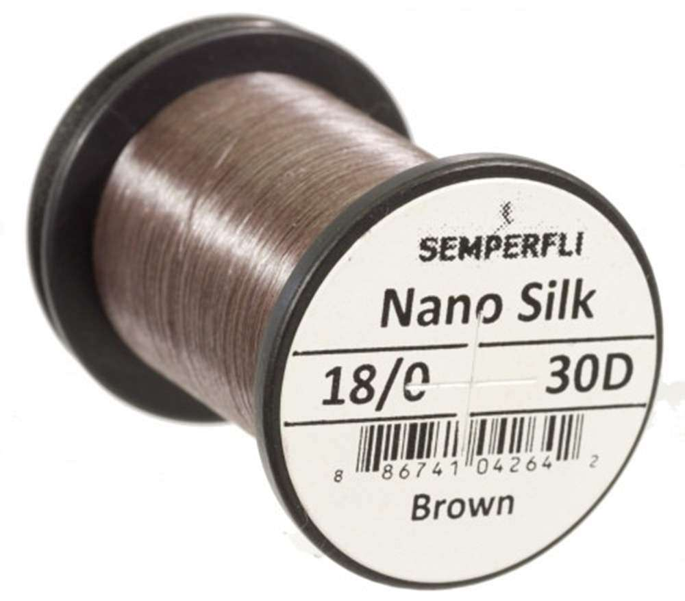 Semperfli Nano Silk Ultra 30D 18/0 Brown