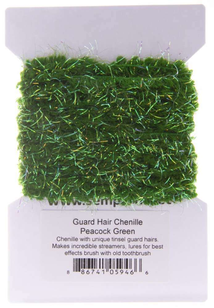 Guard Hair Chenille Peacock Green SF7000