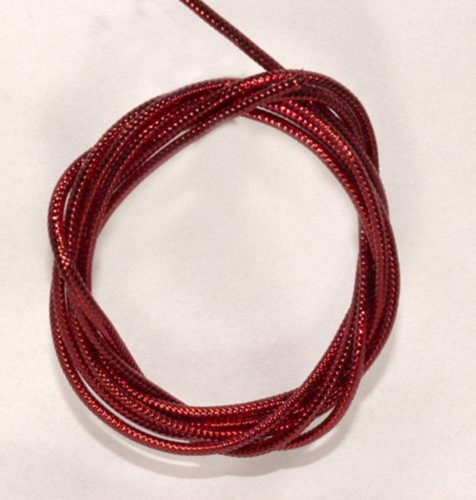 Semperfli Mylar Cord (1.6mm) Red