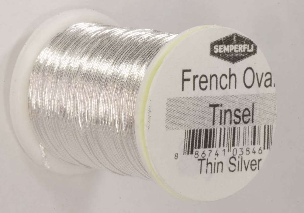 Semperfli - French Oval Tinsel - Small - Silver