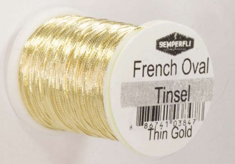 French Oval Tinsel Small Gold