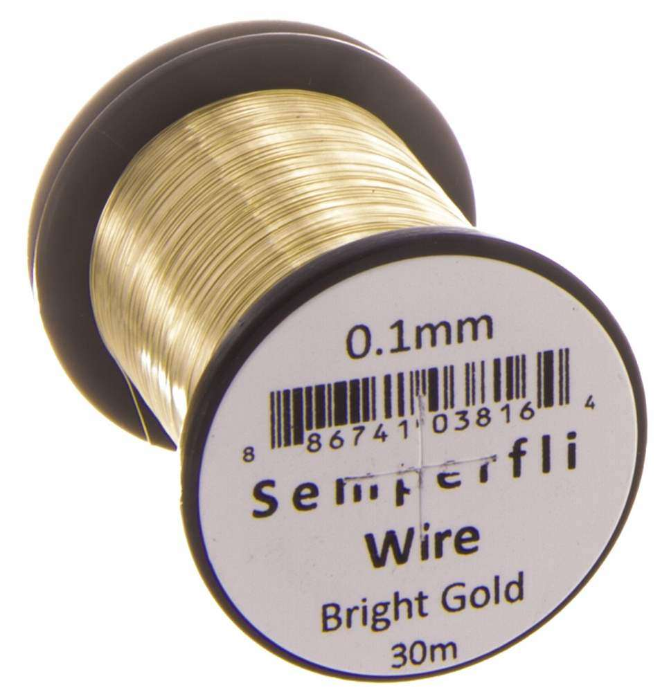Lure/Streamer 0.2Mm Wire Bright Gold